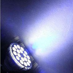Amazon.com : Rocsai 2015 New E27 LED Coral Reef Grow Light High Power Fish Tank Aquarium Lamp LED Bulbs 85-265v (54W - 12 White 6 Blue LED) : Pet Supplies
