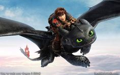 How to train your dragon 2 wallpaper with Hiccup and Toothless. HD version here: www.bestmoviewalls.com/directo…
