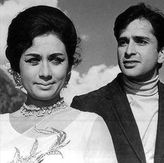 Nanda & Shashi - RAJA SAAB (1969) Vintage Bollywood, Indian Bollywood, Bollywood Cinema, Bollywood Actress, Nanda Actress, Shashi Kapoor, Indian Movies, Movie Stars, My Idol