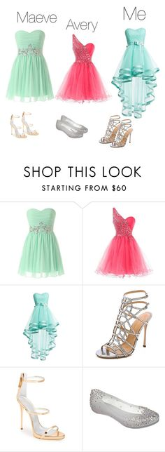 """Prom sisters"" by swim4eva ❤ liked on Polyvore featuring Sergio Rossi, Giuseppe Zanotti and Melissa"