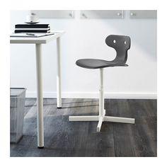 $15! Ikea MOLTE Desk chair, gray gray -