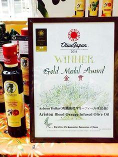 Ariston Blood Orange Infused Olive oil Gold Medal Winner 2014 Japan