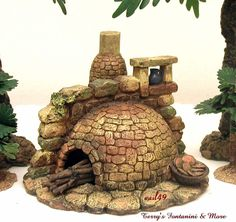 a nice detail to be added for the nativity set in polymer clay Christmas Nativity Scene, Christmas Villages, Fontanini Nativity, Foam Carving, Pottery Houses, Kobold, Sewing Art, Mini Things, Clay Miniatures