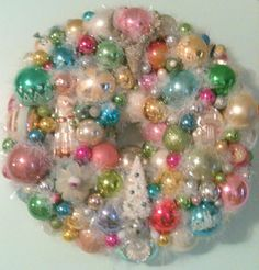 Vintage Ornament Wreath With Christmas Balls