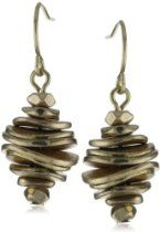 Kenneth Cole New York Gold-Tone Disk Stack Drop Earrings