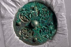 Picture of an ancient brooch found in Scotland in the Galloway Hoard, made by the Vikings.