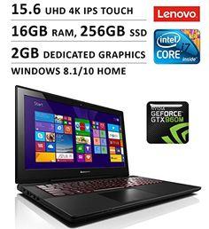 Lenovo Y50 15.6″ 4K IPS Touchscreen Gaming Laptop / i7-4720HQ / 16GB / 256GB SSD / GTX 960M 2GB / WiFi / Webcam / Bluetooth / Windows 8.1 / Black Windows 8, Computer Accessories, Quad, Wifi, Bluetooth, Traditional, Laptops, Gaming, Black