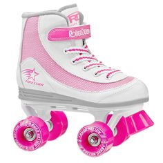 Watch her roll out on the Roller Derby Girls' Firestar Quad Roller Skates. The power strap holds her foot securely so she feels confident to skate without holding onto you. Once she gets moving, the wheels and Accelerator bearings will keep things smooth. Best Roller Skates, Kids Roller Skates, Roller Derby Skates, Roller Derby Girls, Kids Skates, Quad Skates, Speed Skates, Roller Skating, Ice Skating