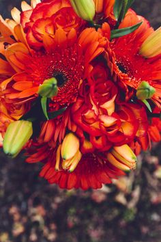Fall wedding inspiration! Wedding bouquet inspiration // shot by Twin Lens Weddings - destination photographers - #wisconsin & #texas & beyond #fallcolors #fallwedding #orangewedding #weddingbouquet #twinlensweddings
