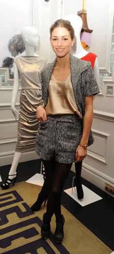 Olivia Palermo - love this look, shorts with tights