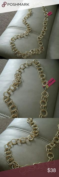Betsey Johnson necklace This is a NWT Betsey Johnson gold color circle link Chain necklace not sure what collection this is from. This will come in the belk box that I purchased it in I'm selling for pieces I need. Beautiful necklace will go with anything in your closet! Betsey Johnson Jewelry Necklaces