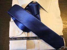 Cravatta Slim Blu Elettrico Cravattino Stretto Blu Cina Anni 60