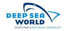 Deep Sea World #aquarium #logo #graphics #design #shark @Diane Z Pierce Sea World #scotland
