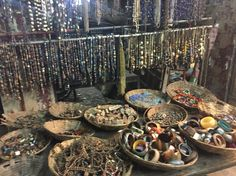 Junk jewellery shop.  Varanasi, India