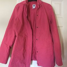 Gap jacket Well taken care GAP jacket.Size M. Pink color.On the back have a small dot (????)pic.3 GAP Jackets & Coats Utility Jackets