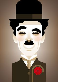 Stanley Chow Illustration of Manchester England: Chaplin Charlie Chaplin, Stanley Chow, Alternative Art, Vector Portrait, Chef D Oeuvre, Portrait Illustration, Caricatures, Typography Poster, Chow Chow