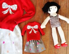 Plush doll twin. Made from pre-made doll form from Hobby Lobby and then painted. Cute!