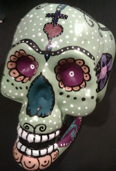 sugar skull...i am not participating in day of the dead art festival so i will have a mini display at renaissance antiques  Sindi's stuff