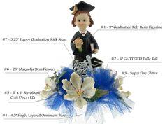 Graduation Centerpiece #004. For more details, please visit our website www.lacrafts.com