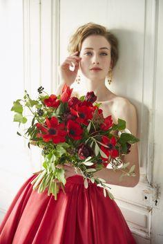 Flower Girl Bouquet, Red Bouquet Wedding, Red Wedding Dresses, Bride Bouquets, Prom Flowers, Wedding Cakes With Flowers, Cake Flowers, Flower Girl Photos, Flower Girls