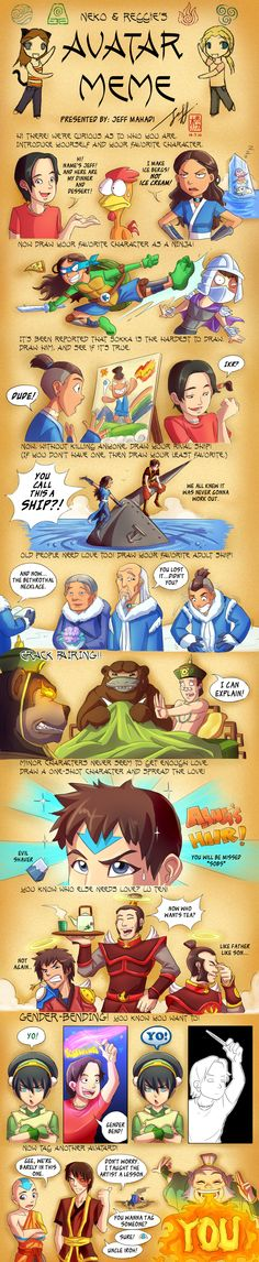 Avatar The Last Airbender Meme by artavias.deviantart.com - this guy is hilarious.  Even if he doesn't support my ship. xP