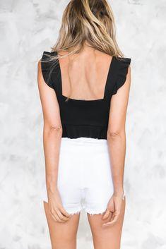 Best Fit High-Waisted Denim Short - White - Haute & Rebellious