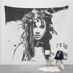Water #Nymph - #sexy #girl conte - 20% Off + Free Worldwide Shipping on Everything - Sale Ends Tonight at Midnight PT! #tapestry #tapestries #wallart #home #art #decor #decorative #print #design