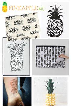 summer trend 2014: pineapple    pineapple art    #pineapple #trend #summer