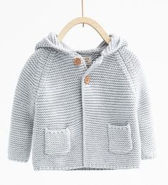 Knit cardigan with hood-KNITWEAR-MINI | 0-12 months-KIDS | ZARA United States