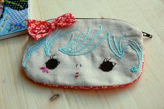 Kawaii Doll Face Pouch by zakka inspired, via Flickr