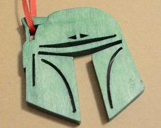 Boba Fett Hand Cut Wood Christmas Ornament Star Wars