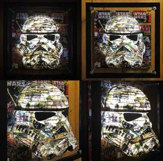 I like to be creative and design weird and wonderful things. Star Wars Comics, Wire Frame, Weird And Wonderful, Art Fair, New Art, Movie Stars, Light Bulb, Art Projects, Helmet