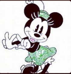 Kappa Delta Minnie Mouse by on DeviantArt Kappa Delta Sorority, Sorority Gifts, Disney Magic, Disney Art, Delta Girl, Mickey Minnie Mouse, College, Cute, Lady