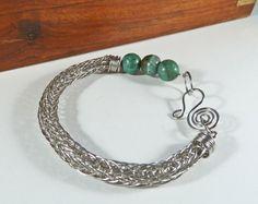 Gemstone Viking Knit Bracelet Norse Bracelet by BeauBellaJewellery #vikingknit #gemstone #bracelet