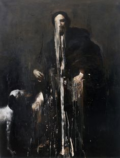 Nicola Samori -  Simonia (J.R.S.R.), 2009, oil on linen, 200 x 150 cm, image courtesy of Nicola Samorì