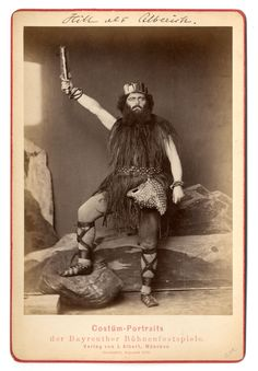 Karl Hill (1831-1893) as Alberich, photograph (1876), by Joseph Albert (1825-1886), from Das Rheingold (1854), by Richard Wagner (1813-1883).