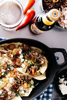 beer braised pulled duck nachos recipe - www.iamafoodblog.com #NewcastleChefContest @Newcastle #sp