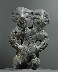 Double-headed figure from Gomolava-Hrtkovci, Serbia. Vinca-Plocnik Culture, Late Mesolithic (5th mill. BC)