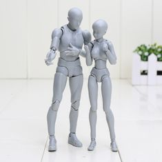 Male and female Body Chan / Body Kun – Manga Drawing Figure. 30 movable joints and items included.