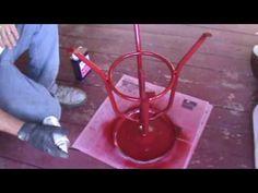 Sandblasting Paint & Rust off Metal Stool and Repaint