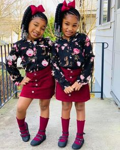 Image may contain: 2 people, people standing, shoes, child and outdoor Credit to Pretty Pink Loyalty. Black Kids Fashion, Little Kid Fashion, Cute Kids Fashion, Baby Girl Fashion, Toddler Fashion, Toddler Outfits, Kids Outfits, Toddler Swag, Cute Little Girls Outfits