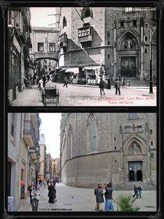 FOTOS DE BARCELONA Fotografías comparativas de Barcelona. Pasado y presente Valencia, Genius Loci, Barcelona Catalonia, Like Image, Old City, Travel Abroad, Past, Street View, In This Moment