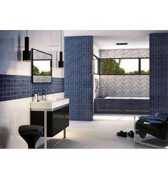 Mosaik kakel online för badrum och kök på Kakelmonster | Village Blå 20x30