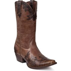 """Gambler by Durango: Men's 12"""" Brown Pull-On Western Boots - Style #DB4434 - Durango Boot Company"""