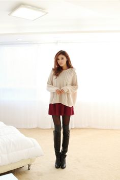 Asymmetrical Knit Sweater