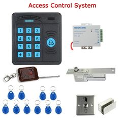 58.93$  Watch here - http://ali5dv.worldwells.pw/go.php?t=32512359249 - Door Access Control Controller RFID Reader Keypad Remote Control 10 ID cards Strike Lock