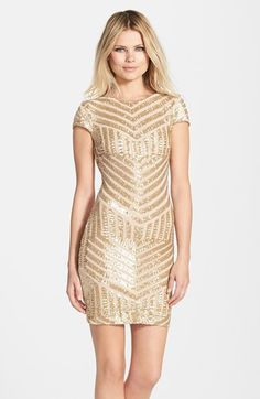 Free shipping and returns on Dress the Population 'Tabitha' Geometric Sequin Minidress at Nordstrom.com. Glittering sequins laid in Art Deco designs visually flatter the figure of this short-sleeve cocktail dress.