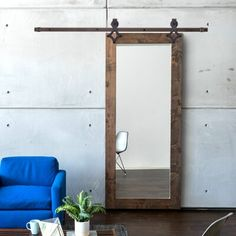 Urban Woodcraft Paneled Wood and Glass Painted Butler's Pantry Barn Door with Installation Hardware Kit Barn Door Pantry, Barn Door Closet, Wood Barn Door, Glass Barn Doors, Sliding Closet Doors, Diy Barn Door, Diy Door, Mirrored Barn Doors, Indoor Sliding Doors