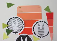 Bunnies and Carrots Easter Garland - free printable bunnies