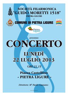 #pietraligure in music #visitPietraLigure #Liguria www.residenceorchidea.it